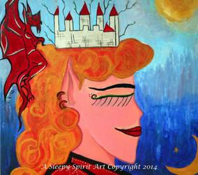 The Elf Queen Dreams by Asleepyspiritart