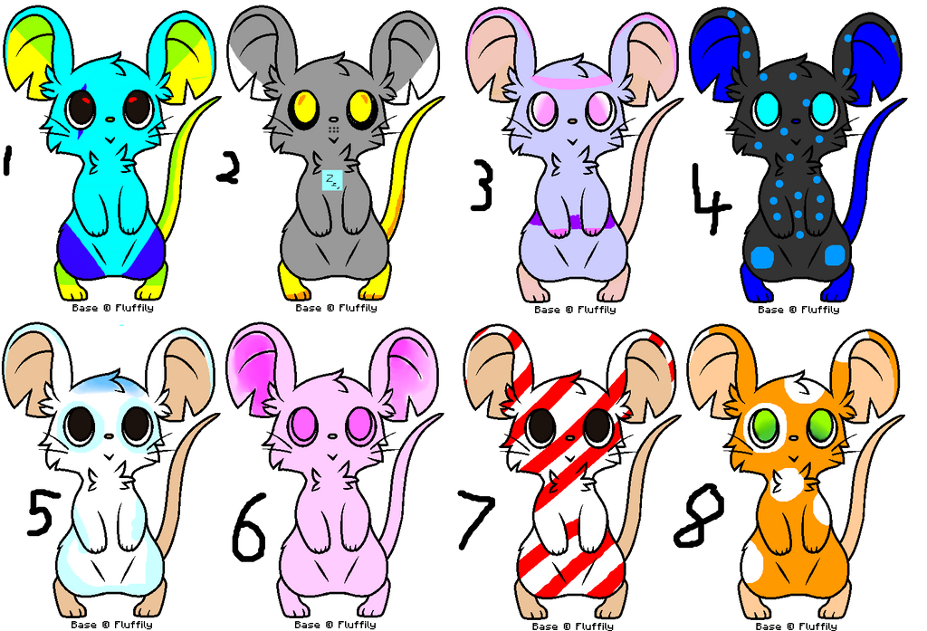 (Points) Adoptable Mouse Characters (OPEN) by Dannyman12