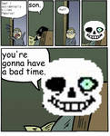Accident or not... [UNDERTALE] [Stare Dad meme]
