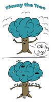 Timmy the Overwhelmed Blue Tree - Tableau by Saza-Productions
