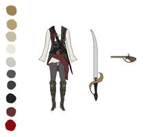 Costume Design: Steampunk Pirate Airship Captain by Saza-Productions