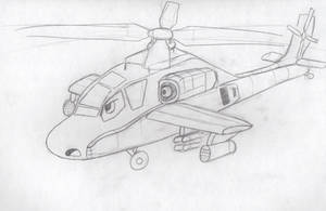 Alfie the Apache Attack Helicopter by Saza-Productions