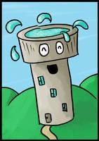 Happy Aqua Tower - Tableau by Saza-Productions