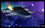 Damaged Spaceship 3D Model