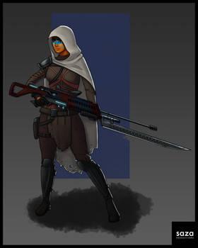 Space Mercenary Character Design