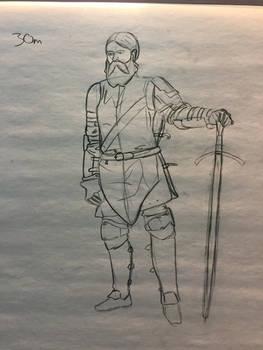 Figure Drawing - Knight