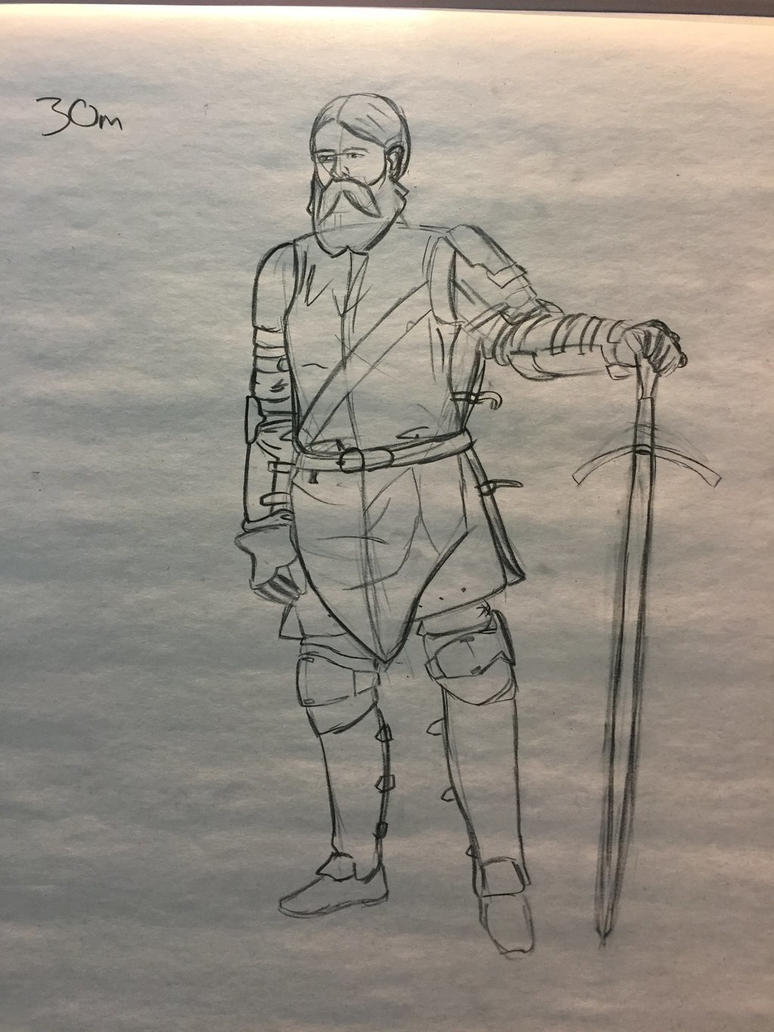 Figure Drawing - Knight by Saza-Productions