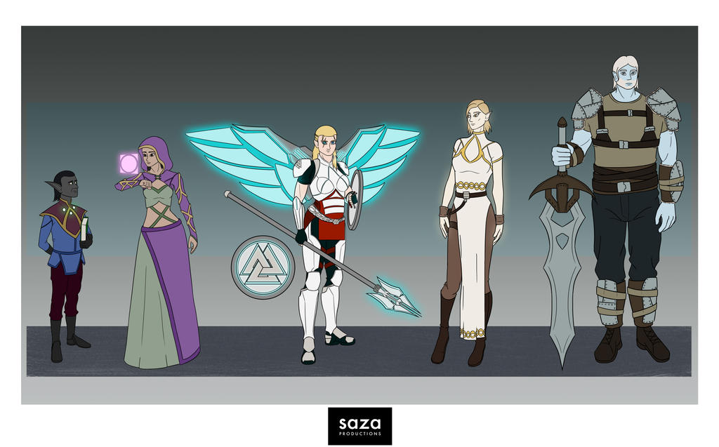 Science Fantasy Norse Mythology Character Design by Saza-Productions
