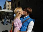 Rapunzel kisses Eugene
