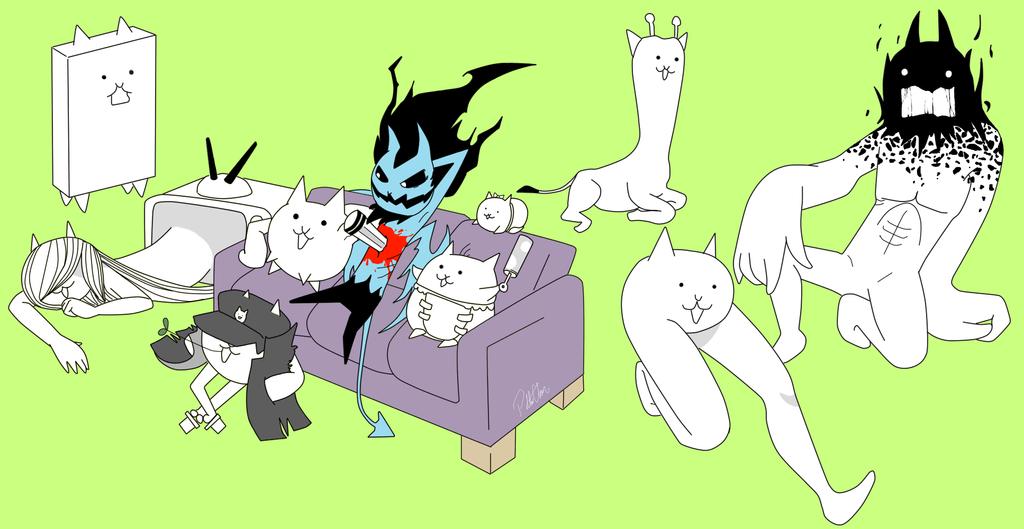 Battle Cats Sadako Cat