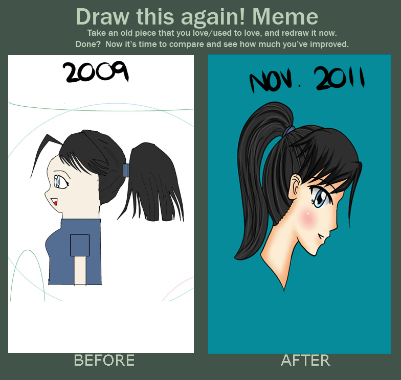 Draw this again meme by icelavender63 on deviantart for Draw this again meme template