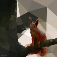 Poligonic Squirrel by Shufter