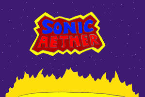 'Sonic Aether' title screen