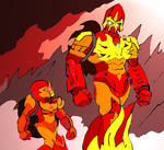 Bionicle- Banhi and Piras walking together