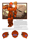 Bionicle- Nova Orbis- Toa Ahkmou bio