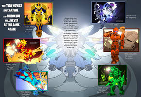 Bionicle- Nova Orbis- Toa Novus collage by NickOnPlanetRipple