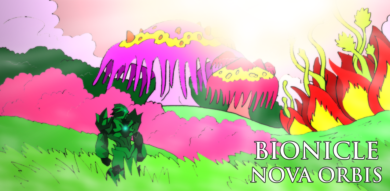 Bionicle- Nova Orbis- Silva in the garden by NickinAmerica