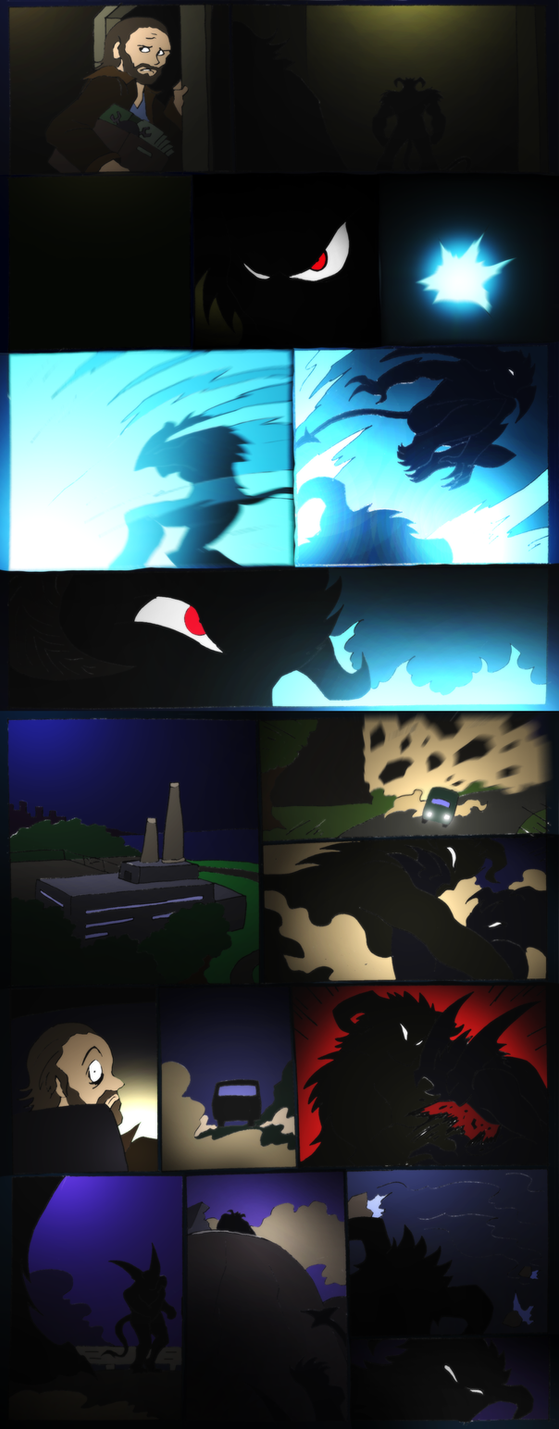 Shadow of The Devilman- 17- Shadowy Attacker by NickinAmerica