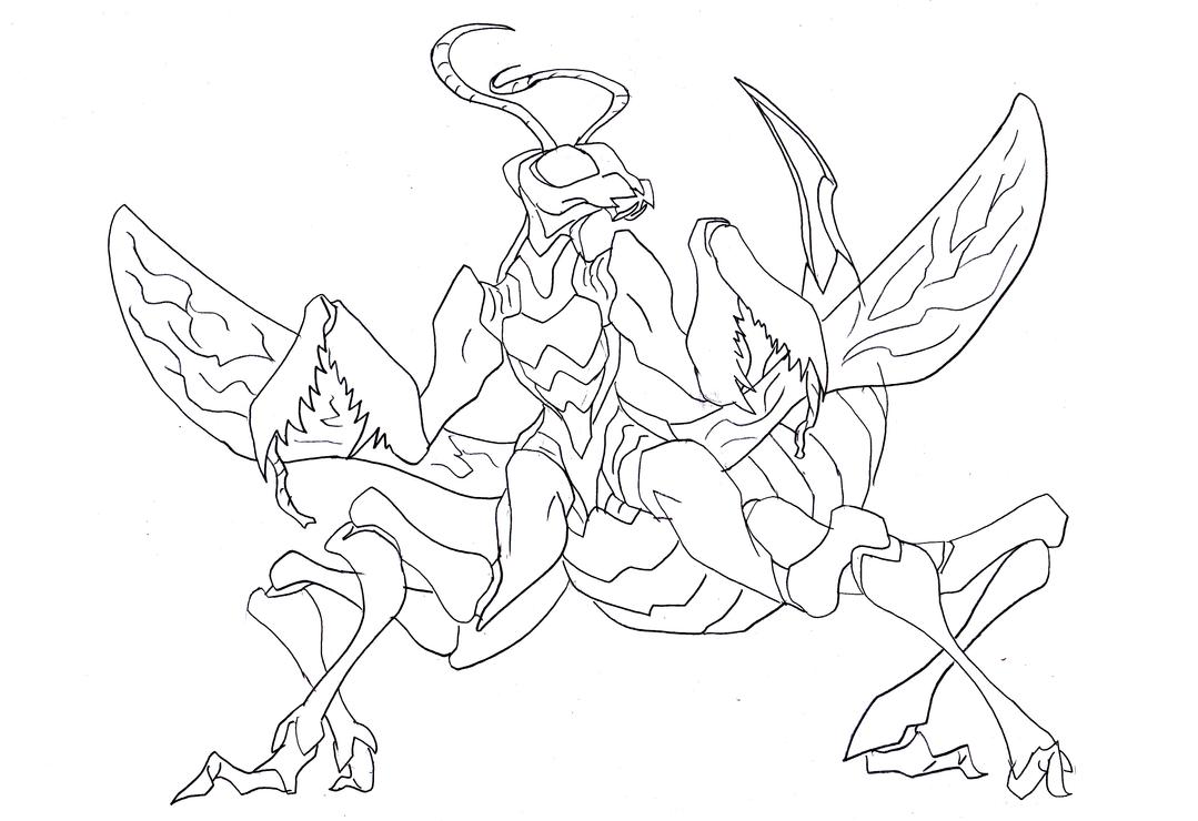 Alien Mantis Wasp Thing by NickinAmerica