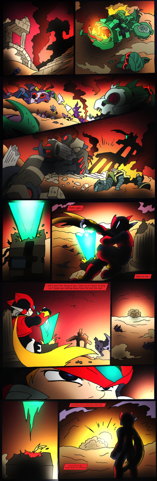 Mega Man Zero 1.5- Page 1- For Endless Fight by NickinAmerica