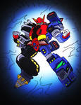 Mark I Megazord for Kaijuduke COMPLETED! by NickOnPlanetRipple