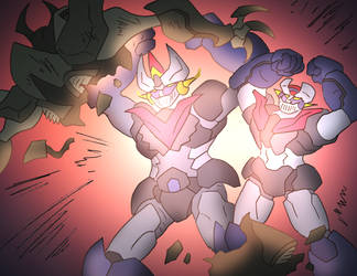 Mazinger 'Double Burning Fire' by NickOnPlanetRipple