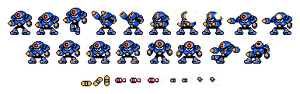 Mega Man styled - Napalm Man Battle and Fighters