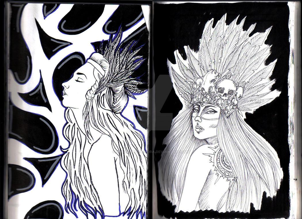 Sisters by Almatheya-Andra