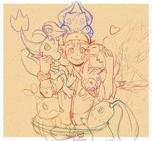 [SKETCH] Evergreen!! by yatocommish
