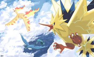 Pokemon Series: Legends and Myths-Legendary Birds by yatocommish