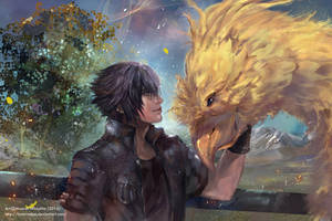 Noctis and Chocobo