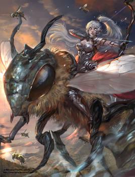 Commission: Warrior Elf