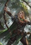 Fantasy North: Aelwyn Alorr, Wood Elf Ranger