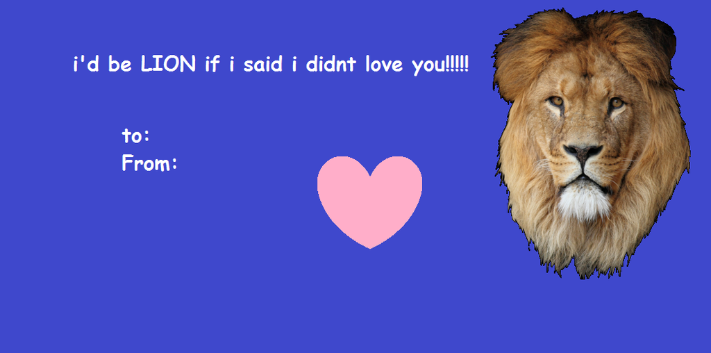 Lion Pun Valentines Day Card By SkuIIer ...