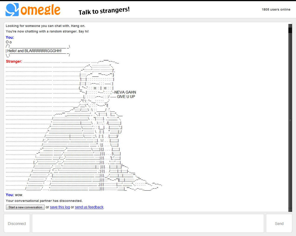 Yahoo! Canada Answers - Omegle Keeps.