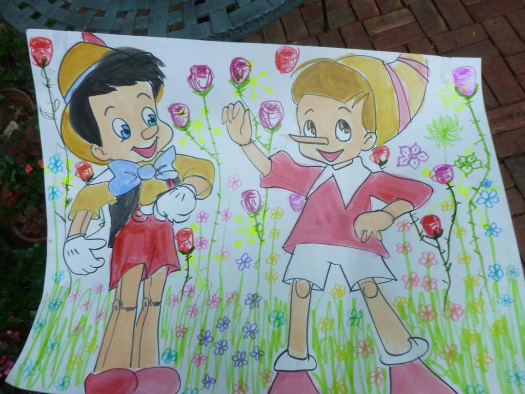 Pinocchio and Buratino by 17cherry