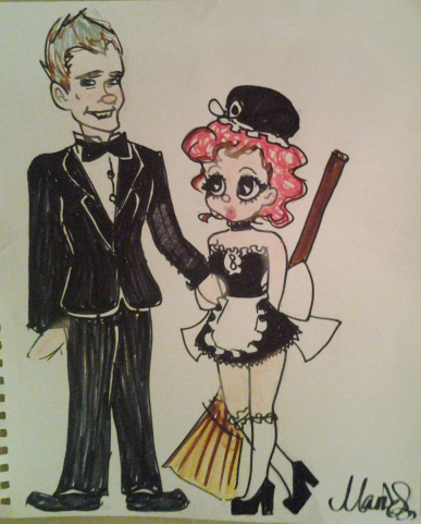 French Maid and a suit-guy by 17cherry