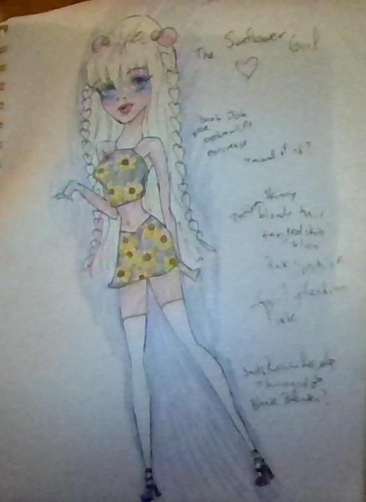 Sunflower girl by 17cherry