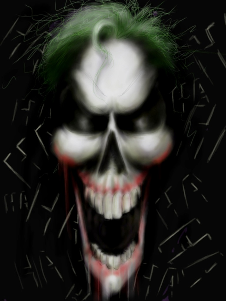 Airbrush Joker Wallpaper: Joker Skull By MikimusPrime On DeviantArt