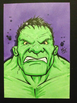 Hulk sketch card
