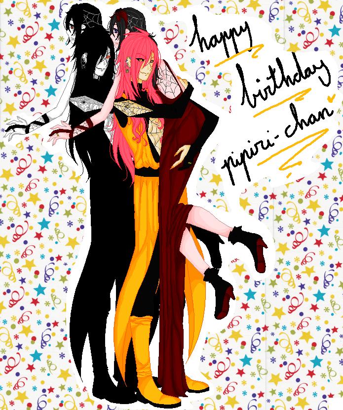 happy birthday pipiri-chaan by oOLittlePinkyOo