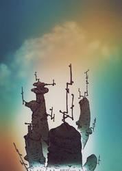 Fungus Pillars by leothefox