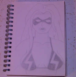 Ms. Marvel Sketch by cartoonist91