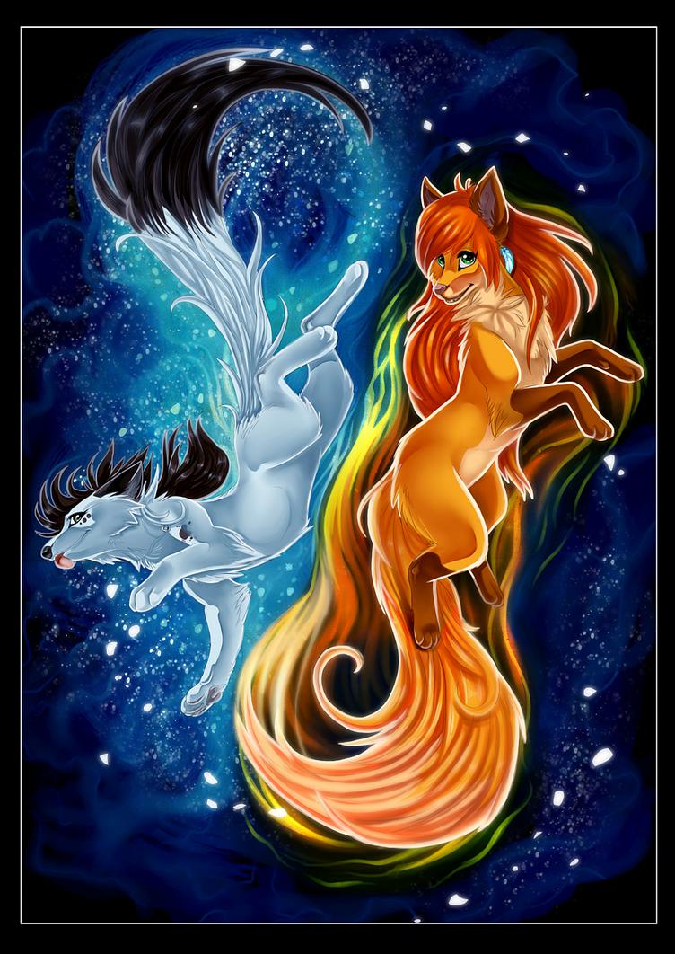 Fire and Ice - Collaboration by Konveekou