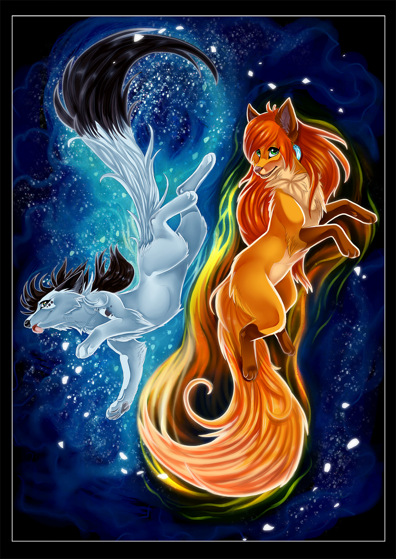 Fire and Ice - Collaboration by Konveekou