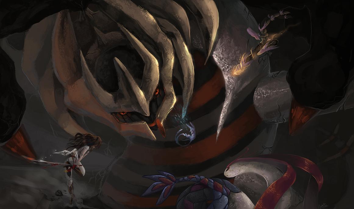 Giratina the Shadow Lord by Konveekou