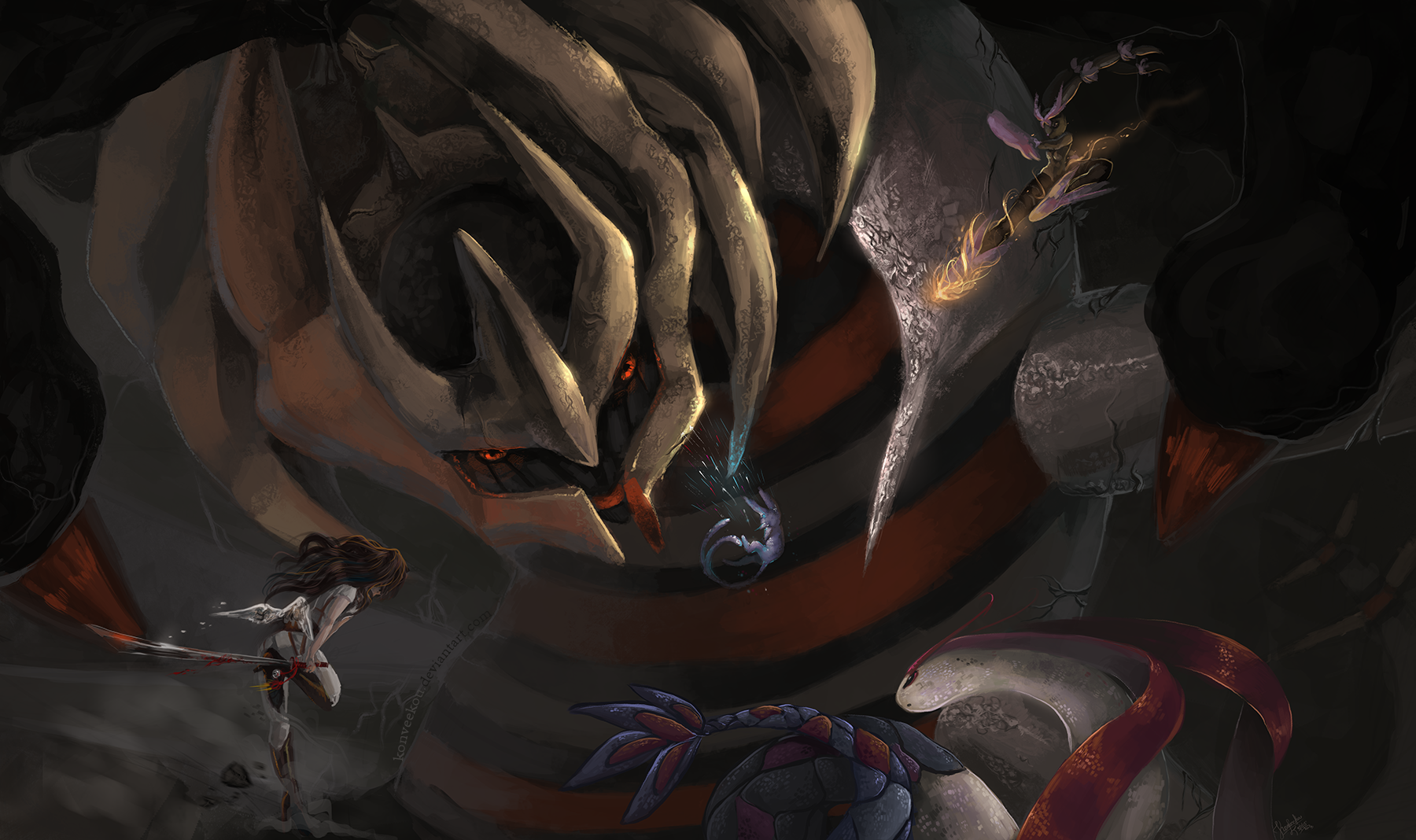 Giratina the Shadow Lord by Konveekou on DeviantArt