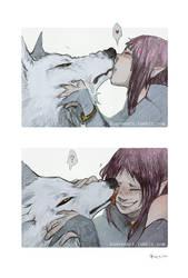 Wolf's Rain: Smooches by Konveekou