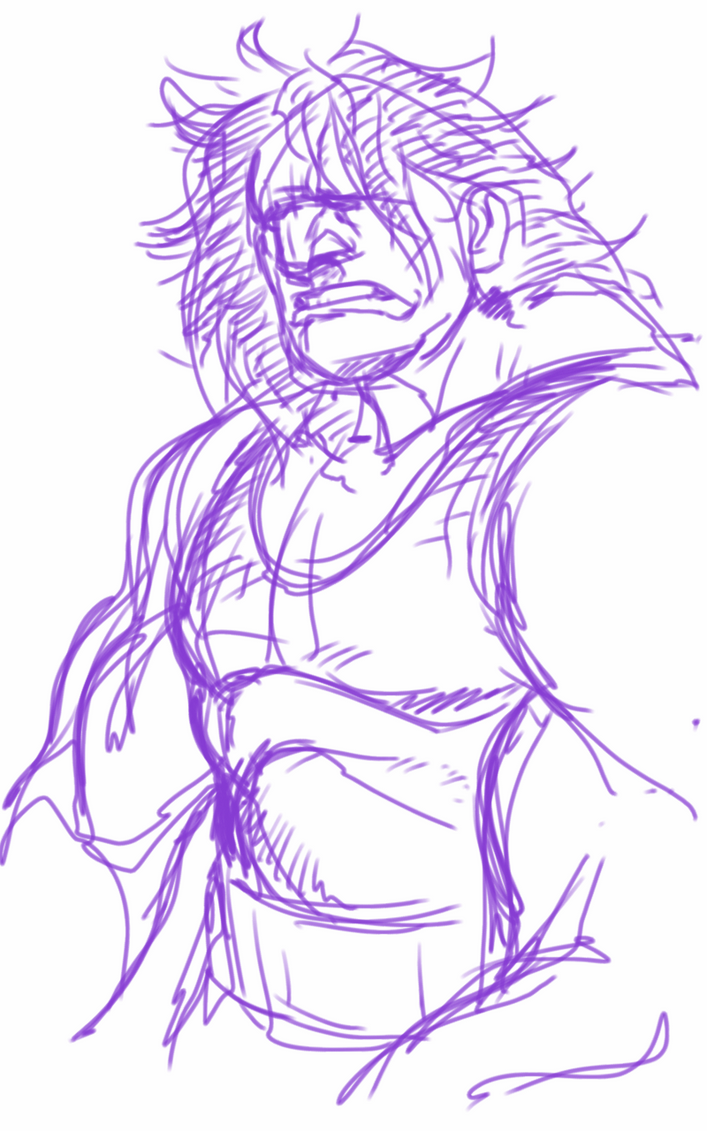 scribble: USF4 Hugo by rook-over-here