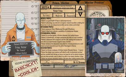 Arkham Files - Mr Freeze by Roysovitch